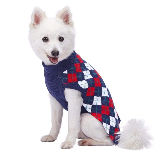 Other - NWT✨ Plaid Turtleneck Dog Sweater